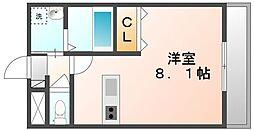 高松琴平電気鉄道志度線 今橋駅 徒歩5分の賃貸マンション 3階1Kの間取り