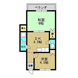 サンロードマンション[5階]の間取り