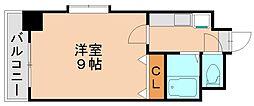 ラフィネ美野島[2階]の間取り