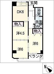 MARUMANマンション[4階]の間取り