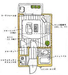 ユトリロ南栄[204号室]の間取り