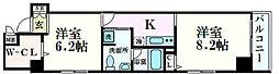 南堀江プライマリーワン[8階]の間取り