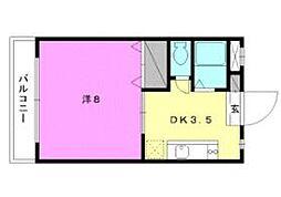 セレッソ赤坂[206 号室号室]の間取り