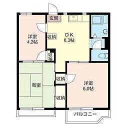 フォーブル 第一須田[2階]の間取り