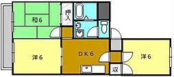 少林寺パークレジデンス[4階]の間取り