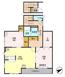 埼玉県さいたま市西区西遊馬の賃貸アパートの間取り