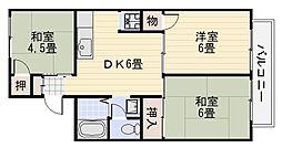 セジュール松川[1階]の間取り