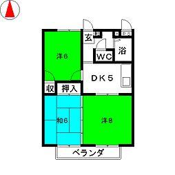 エステートIMA[2階]の間取り