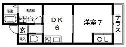 シダーコート[102号室号室]の間取り