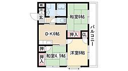 愛知県名古屋市天白区原5丁目の賃貸マンションの間取り