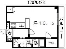大阪府大阪市東住吉区東田辺3丁目の賃貸マンションの間取り