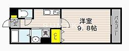 サンステージ大和町 1階1Kの間取り