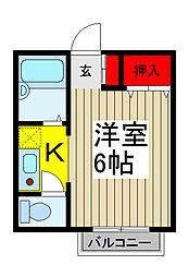 アライヴ浦和[2階]の間取り
