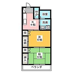 メゾンセンチュリー2[2階]の間取り