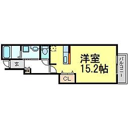 クラールハウス Nobu[1階]の間取り