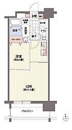 北海道札幌市中央区南十四条西1丁目の賃貸マンションの間取り