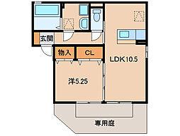 ピーチ荘[1階]の間取り