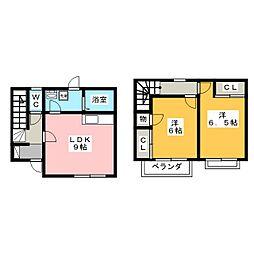 [テラスハウス] 岐阜県大垣市波須1丁目 の賃貸【/】の間取り