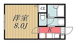 千葉県千葉市美浜区高洲1の賃貸アパートの間取り