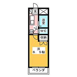 安田学研会館 中棟[2階]の間取り