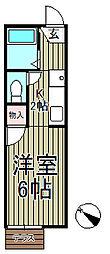 ジュネス鎌倉[105号室]の間取り