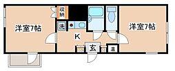 兵庫県神戸市須磨区天神町3丁目の賃貸アパートの間取り