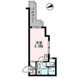 神奈川県厚木市旭町3丁目の賃貸マンションの間取り
