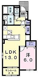 Kouyouen 1階1LDKの間取り