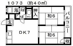 藤ハイツ[102号室号室]の間取り