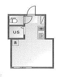 東京都新宿区市谷薬王寺町の賃貸アパートの間取り