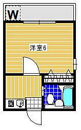 メゾンイシワタ[203号室]の間取り