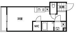 都営新宿線 曙橋駅 徒歩6分の賃貸マンション 4階1Kの間取り