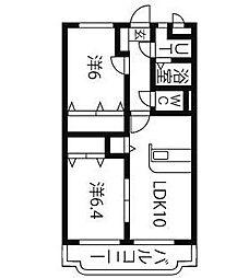 Y.M.ソレイユ II[1階]の間取り