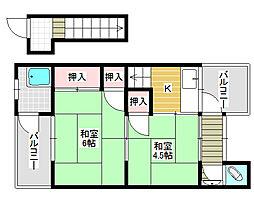 志村ハイツ[2階]の間取り