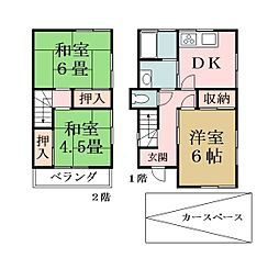 [一戸建] 埼玉県越谷市蒲生3丁目 の賃貸【/】の間取り