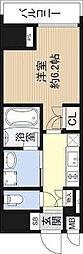 Osaka Metro長堀鶴見緑地線 長堀橋駅 徒歩5分の賃貸マンション 4階1Kの間取り