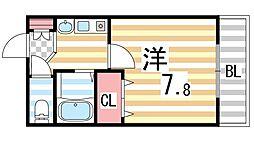 生駒カレッジシティ[406号室]の間取り