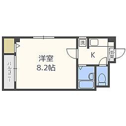 ピュア箱崎弐番館[1階]の間取り