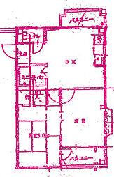 エヴァーグリーン宮前平パートII[3階]の間取り