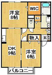 ガーデンハウス明正[2階]の間取り