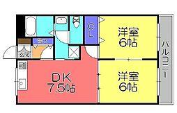 グリーンコートII[2階]の間取り