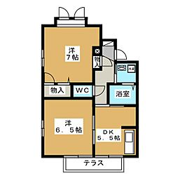 シャーメゾン青木[1階]の間取り
