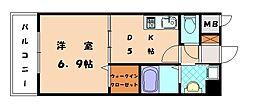 RJR香椎[2階]の間取り