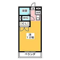 パークサイドTAKAO[2階]の間取り