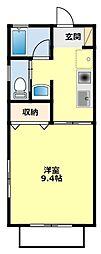 愛知県豊田市挙母町2丁目の賃貸アパートの間取り