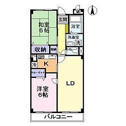 サンスタレ[3階]の間取り