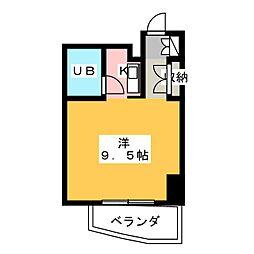 ユース山手館[3階]の間取り