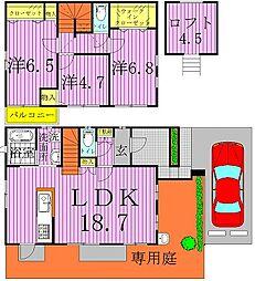 [一戸建] 千葉県柏市増尾2丁目 の賃貸【/】の間取り