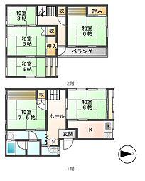 [一戸建] 長野県長野市三輪9丁目 の賃貸【/】の間取り