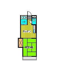 微笑アパートメントハウス[1階]の間取り